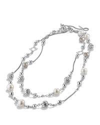 David Yurman - Metallic Infinity Station Necklace With Diamonds - Lyst