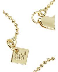 McQ - Metallic Gold Razor Necklace - Lyst