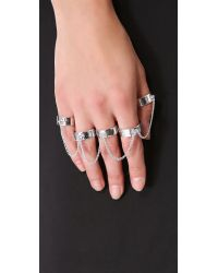 Eddie Borgo Metallic Five-finger Ring