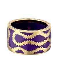 Vivienne Westwood - Purple Squiggle Band Ring - Lyst