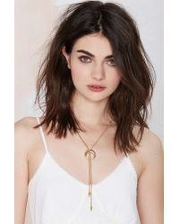 Nasty Gal | Metallic Mariana Bolo Necklace | Lyst