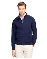 Brooks Brothers | Blue Cotton Zip-front Jacket for Men | Lyst
