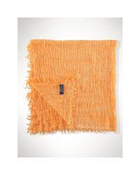 Polo Ralph Lauren - Orange Frayed Cotton-blend Scarf - Lyst