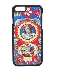 Dolce & Gabbana | Black Carretto Siciliano Print Iphone 6 Plus Case | Lyst