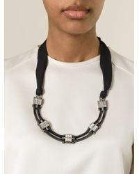 Lanvin | Black Art Deco Necklace | Lyst