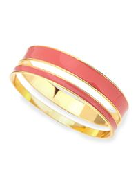 Tuleste | Pink Two-piece Channel Bangle Set | Lyst