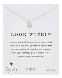Dogeared | Metallic Look Within Necklace | Lyst