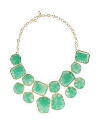Kenneth Jay Lane - Green Goldplated Resin Necklace - Lyst