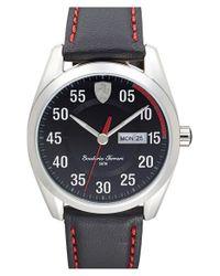Scuderia Ferrari - Metallic 'd50' Leather Strap Watch for Men - Lyst
