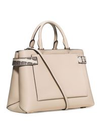 Michael Kors White Bette Large Satchel Bag