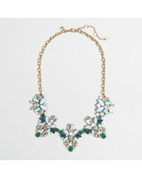 J.Crew - Green Factory Crystal and Gem Clusters Necklace - Lyst