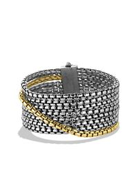 David Yurman - Metallic Box Chain Eight-row Bracelet With Gold - Lyst