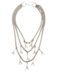 Andrea Crews | Metallic Long Eiffel Tower Charm Necklace | Lyst
