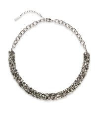 Saks Fifth Avenue | Gray Tubular Cluster Collar Necklace/hematite | Lyst