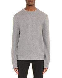 Balenciaga Gray Logo-Stamped Sweatshirt for men