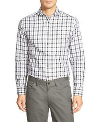 Vince Camuto - Blue Slim Fit Windowpane Sport Shirt for Men - Lyst