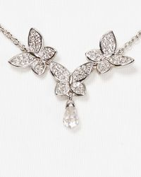 Nadri Metallic Pave Butterfly Y Necklace 15