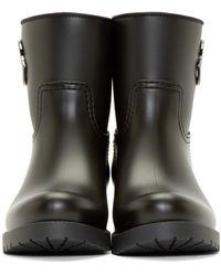 Moncler Black Paule Rain Boots