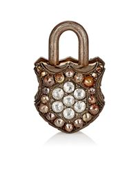 Sevan Biçakci | Metallic Mixed-diamond Flower Padlock | Lyst