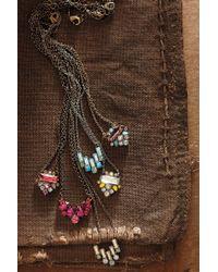 "Sorrelli - Metallic Navette Collar Necklace, 17.5"" - Lyst"