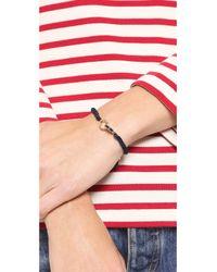 Michael Kors | Blue Macrame Cord Pave Bracelet | Lyst