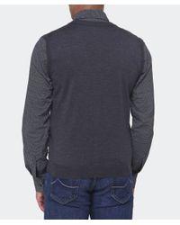 BOSS Gray Merino Wool Medrick-d Waistcoat for men