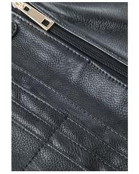 Missguided | Metallic Vivien Gold Chain Purse Bag In Black | Lyst