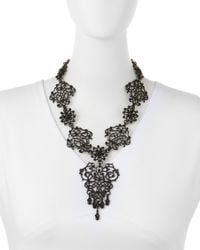 Jose & Maria Barrera - Metallic Lace Scroll Statement Necklace for Men - Lyst