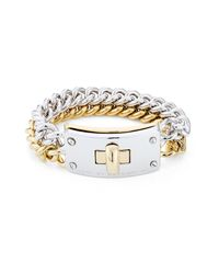 Marc By Marc Jacobs | Metallic Marc By Marc Jacobs Double Vision Turnlock Bracelet Silver Gold - Multicolor | Lyst