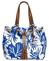 Michael Kors | Blue Michael Marina Large Gathered Tote | Lyst