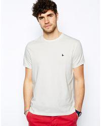 Jack Wills White Sandleford T-shirt With Pheasant Logo for men
