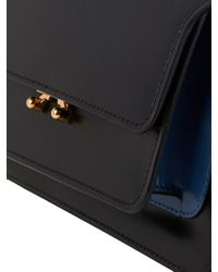 Marni Black Trunk Medium Bi-Colour Leather Shoulder Bag
