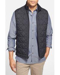 Victorinox - Black 'Matterhorn' Quilted Zip Front Vest for Men - Lyst