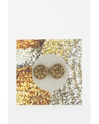 Urban Outfitters - Metallic Sculpted Filigree Gift Card Earring - Lyst