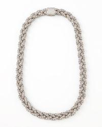 John Hardy - Metallic Classic Chain Pave Diamond Necklace Small - Lyst