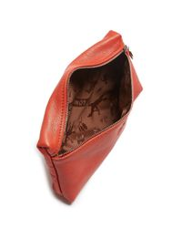 Longchamp Red Le Pliage Cosmetic Case