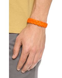 Miansai | Orange Nantucket Woven Rope Bracelet for Men | Lyst
