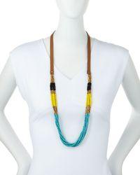 Panacea - Blue Colorblock Multi-strand Beaded Necklace - Lyst