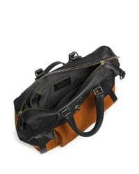 COACH Brown X Blitz 'rhyder 33' Workwear Leather Suede Tote