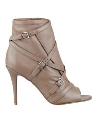 Nine West - Natural Dormus Peep Toe Booties - Lyst