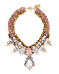 Assad Mounser | Metallic 'garnet' Glass Crystal Spike Collar Necklace | Lyst