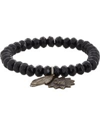 Miracle Icons - Black Onyx Charm Bracelet for Men - Lyst