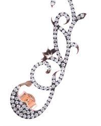 Diane Kordas - Pink Diamond Oxidised Rosegold Ear Cuff - Lyst