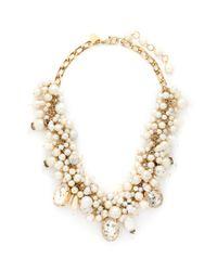 Erickson Beamon White ''pearl Jam' Swarovski Faux Pearl Crystal Necklace