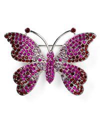 Carolee Purple Butterfly Pin