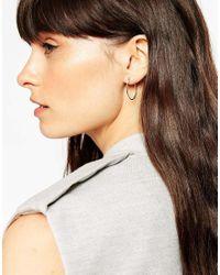 ASOS - Metallic Oval Hoop Earrings - Lyst