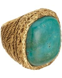 Aurelie Bidermann | Yellow Turquoise Miki Ring | Lyst