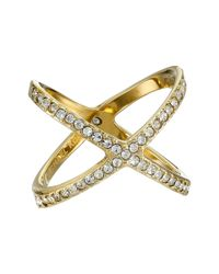 Michael Kors - Metallic Brilliance X Midi Ring - Lyst