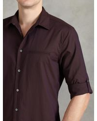 John Varvatos | Purple Cotton Rolled Sleeve Shirt for Men | Lyst