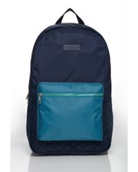 Forever 21 | Blue Men Colorblock Quilted Backpack for Men | Lyst